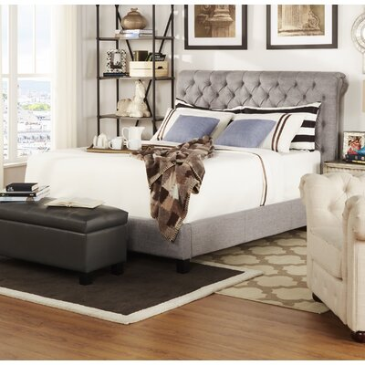 Hinsdale Queen Upholstered Panel Bed Color: Gray