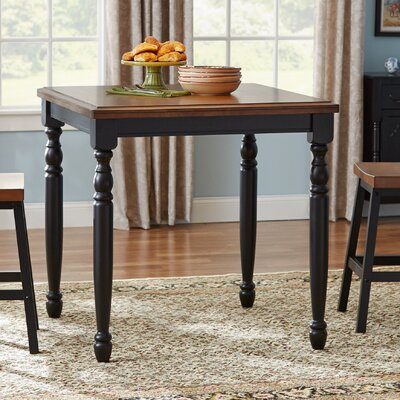 Courtdale Bar Table Color: Almond / Ebony