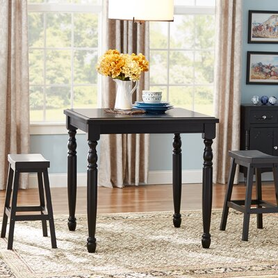 Courtdale Bar Table Color: Ebony