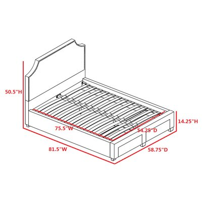 Bayliss Upholstered Adjustable Bed Size: Full