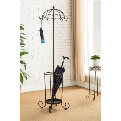 Williston 10 Hook Metal Coat Rack