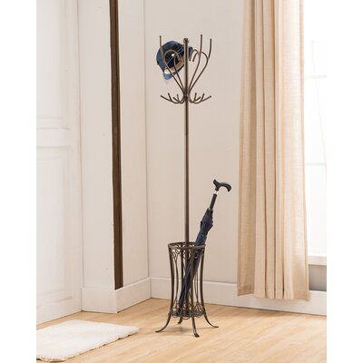 Williston 12 Hook Metal Coat Rack