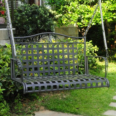 Snowberry Iron Porch Swing Finish: Antique Black