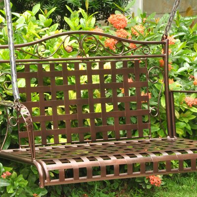 Snowberry Iron Porch Swing Finish: Hammered Bronze