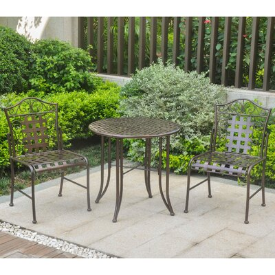 Snowberry 3 Piece Bistro Set Finish: Bronze
