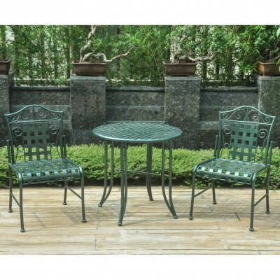 Snowberry 3 Piece Bistro Set Finish: Green