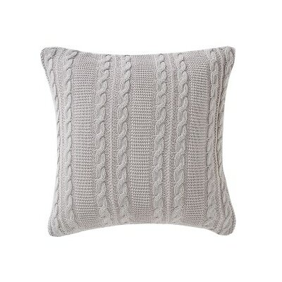 Machias Throw Pillow Color: Gray