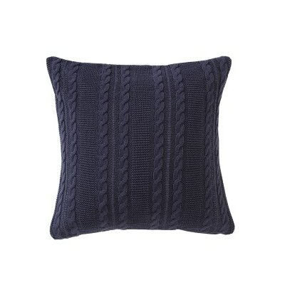 Machias Throw Pillow Color: Navy