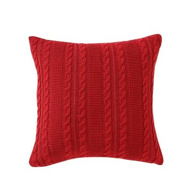 Machias Throw Pillow Color: Red
