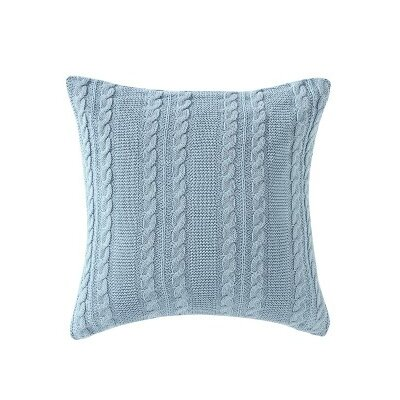 Machias Throw Pillow Color: Spa/Blue