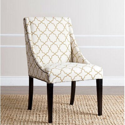 Boswell Parsons Chair Upholstery: Gold Lattice