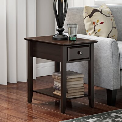 Hadley End Table With Storage� Color: Espresso