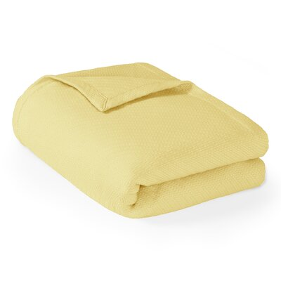 Rye Cotton Throw Blanket Size: Full / Queen, Color: Yellow
