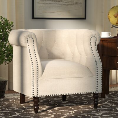 Huntingdon Barrel Chair Upholstery: Oatmeal