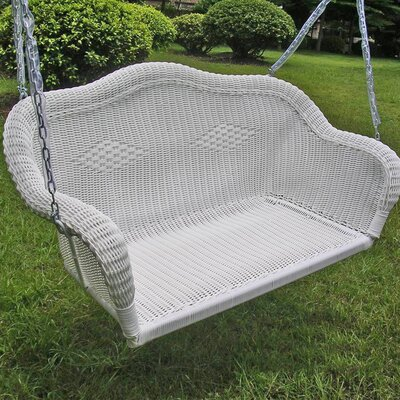Belle Isle Wicker Porch Swing Finish: White