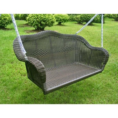 Belle Isle Wicker Porch Swing Finish: Antique Black
