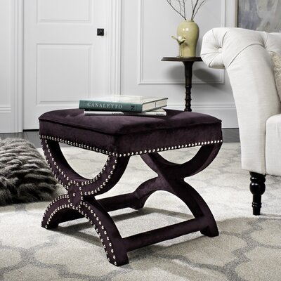 Weybossett Ottoman Upholstery: Plum
