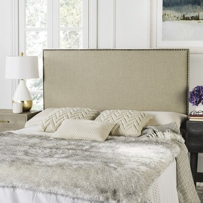 Marilla Hemp Nail Head Queen Panel Headboard