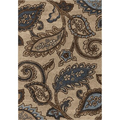 Prower Steel Beige/Blue Area Rug