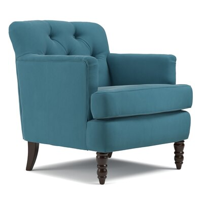 Quinton Traditional Armchair Upholstery Color: Turquoise