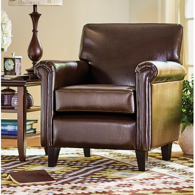 Horsham Upholstered Club Chair Upholstery: Espresso