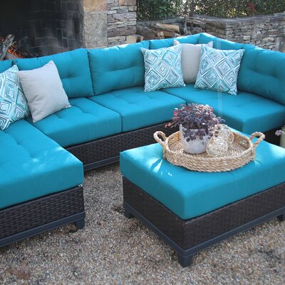 Weirton 4 Piece Sectional Seating Group with Cushion