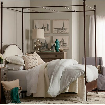 Rockledge Upholstered Canopy Bed Size: Full