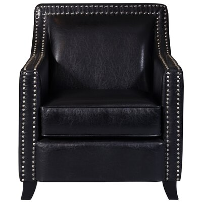 Grandwood Faux Leather Swoop Club Chair