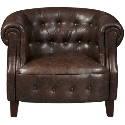 Granger Faux Leather Tufted Chesterfield Chair