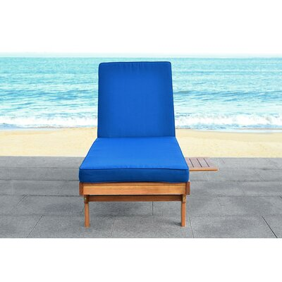 Cranesville Lounge Chair with Cushion Fabric: Navy