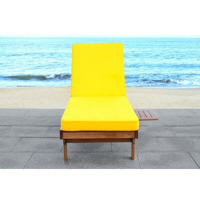 Cranesville Lounge Chair with Cushion Fabric: Yellow