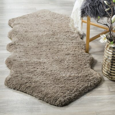 Herne Bay Hand-Tufted Silver Area Rug Rug Size: 4 x 6