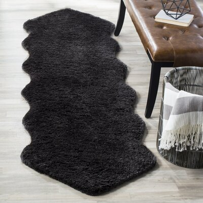 Herne Bay Hand-Tufted Charcoal Area Rug Rug Size: 3 x 5