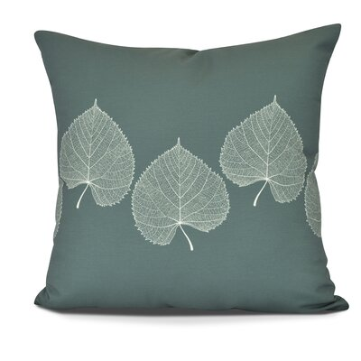 Leatham Leaf 2 Floral Outdoor Throw Pillow Size: 18 H x 18 W, Color: Green
