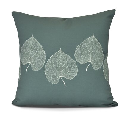 Susannah Leaf 2 Floral Throw Pillow Size: 26 H x 26 W, Color: Green