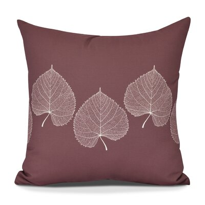 Susannah Leaf 2 Floral Throw Pillow Size: 16 H x 16 W, Color: Brick Red