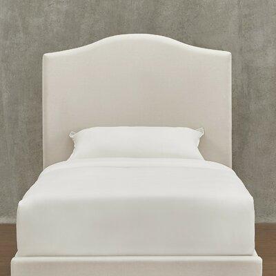 Winstead Twin Upholstered Panel Headboard Upholstery: White