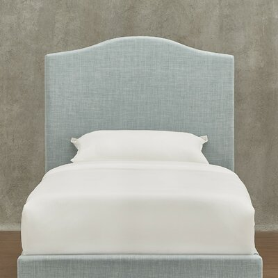 Winstead Upholstered Panel Headboard Size: Twin, Upholstery: Gray