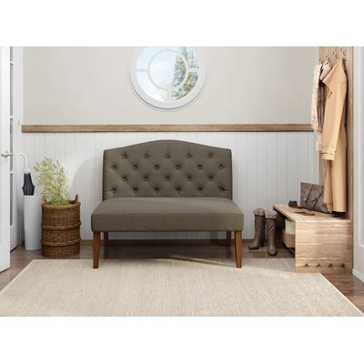 Thornville Camel Back Upholstered Settee