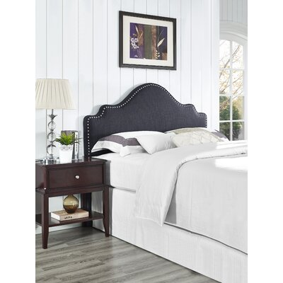Clara Upholstered Panel Headboard Size: Full / Queen, Upholstery: Black