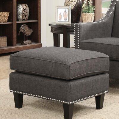 Rotterdam Ottoman Upholstery: Charcoal