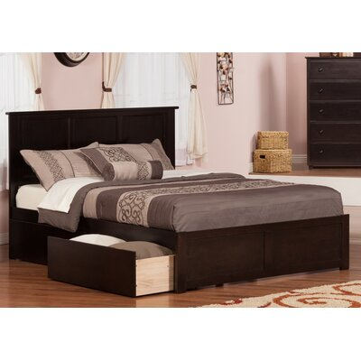 Brookline Storage Platform Bed Finish: Espresso, Size: Queen