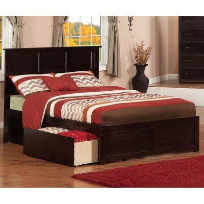 Deandre Wood Storage Platform Bed Finish: Espresso, Size: Full