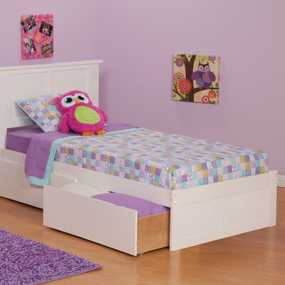 Deandre Storage Platform Bed Color: White, Size: Full