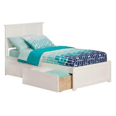 Deandre Wood Storage Platform Bed Size: Twin, Finish: White