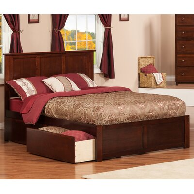 Deandre Wood Storage Platform Bed Finish: Antique Walnut, Size: Full