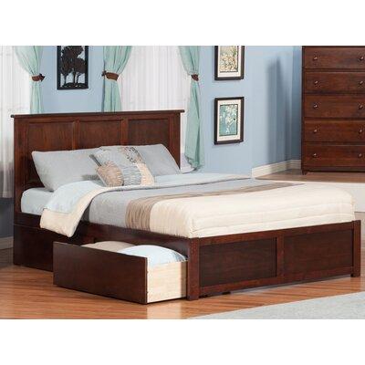 Deandre Wood Storage Platform Bed Finish: Antique Walnut, Size: Queen