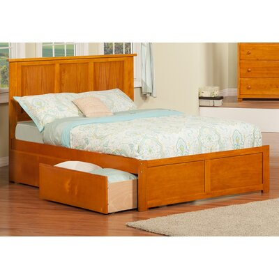 Deandre Wood Storage Platform Bed Finish: White, Size: Full
