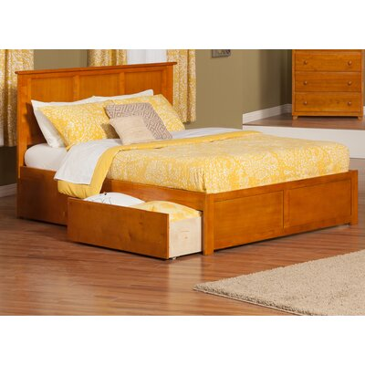 Deandre Wood Storage Platform Bed Finish: Caramel Latte, Size: Queen