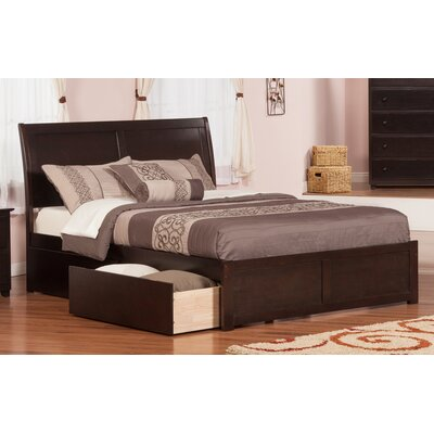 Deandre Traditional Storage Platform Bed Finish: Espresso, Size: Full